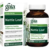 Gaia Herbs Nettle Leaf, Vegan Liquid Capsules, 60 Count - Upper Respiratory and Inflammatory Support, Organic Stinging Nettle Extract