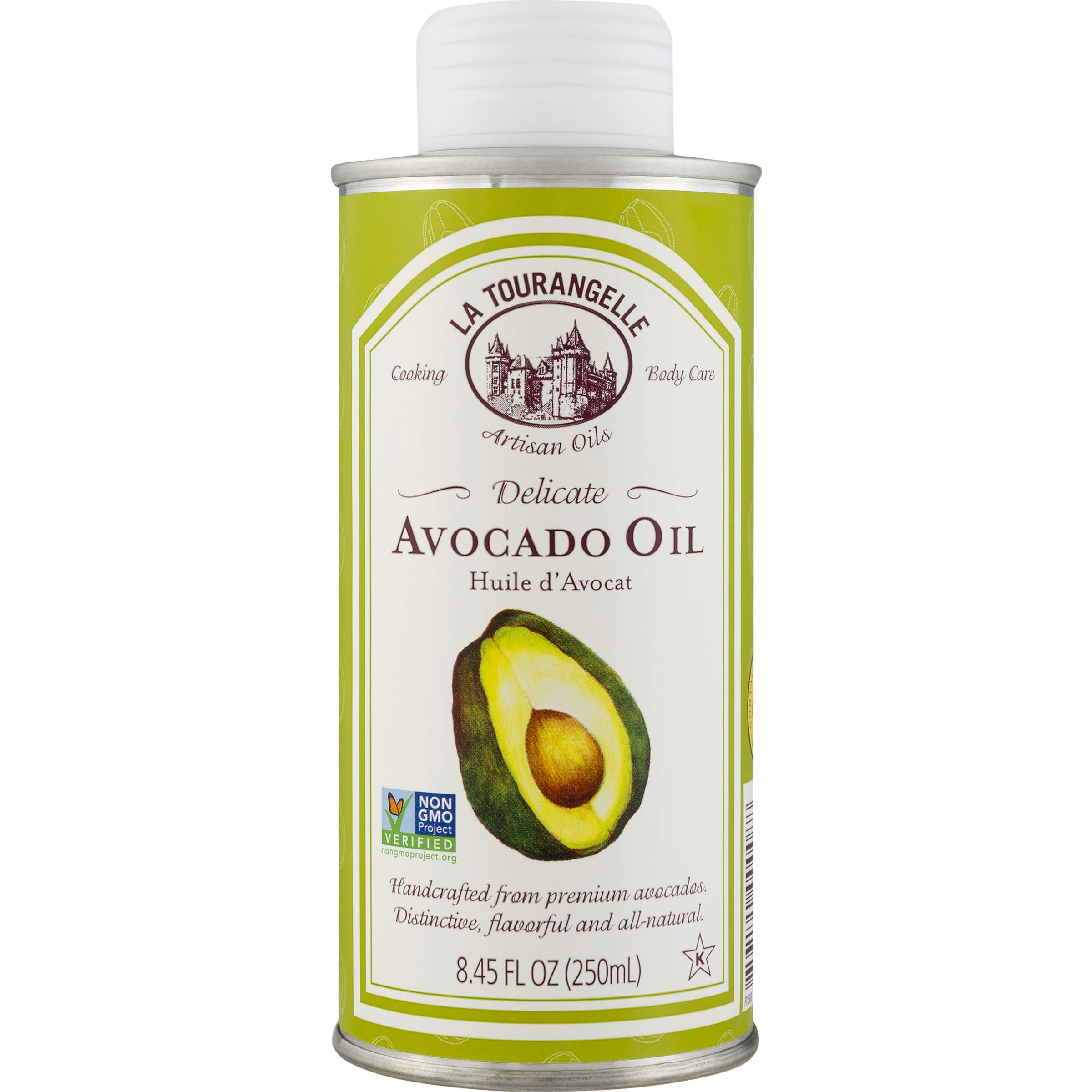 La Tourangelle Avocado Oil 8.45 Fl. Oz., All-Natural, Artisanal, Great for Salads, Fruit, Fish or Vegetables, Great Buttery Flavor