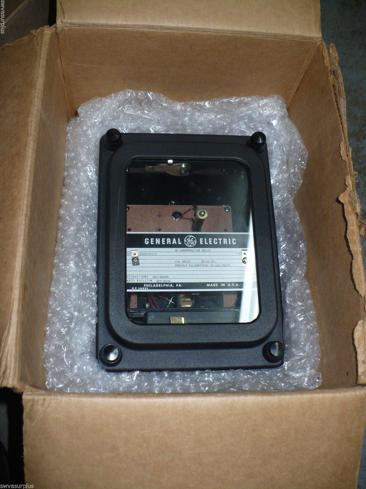 Ge 12NGV13A11A Ac Undervoltage Relay, 120 VAc, 50/60 Hz,
