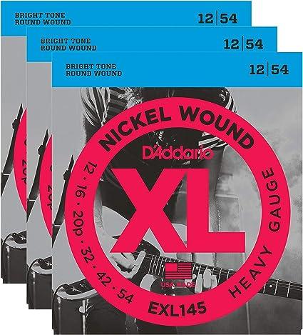 12-54 Guitar Strings Heavy D/'Addario NYXL1254 Nickel Wound