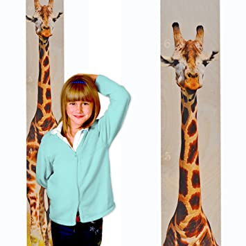 Amazon Growth Chart Art Giraffe Growth Chart Wooden Height