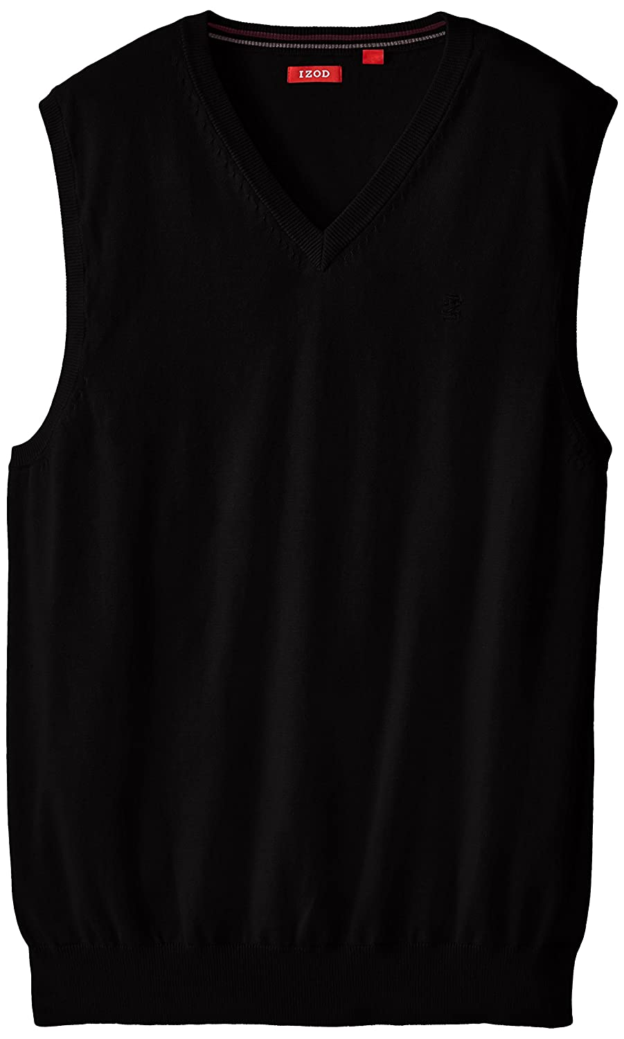 IZOD Men's Big and Tall Fine Gauge V-Neck Sweater Vest at Amazon ...