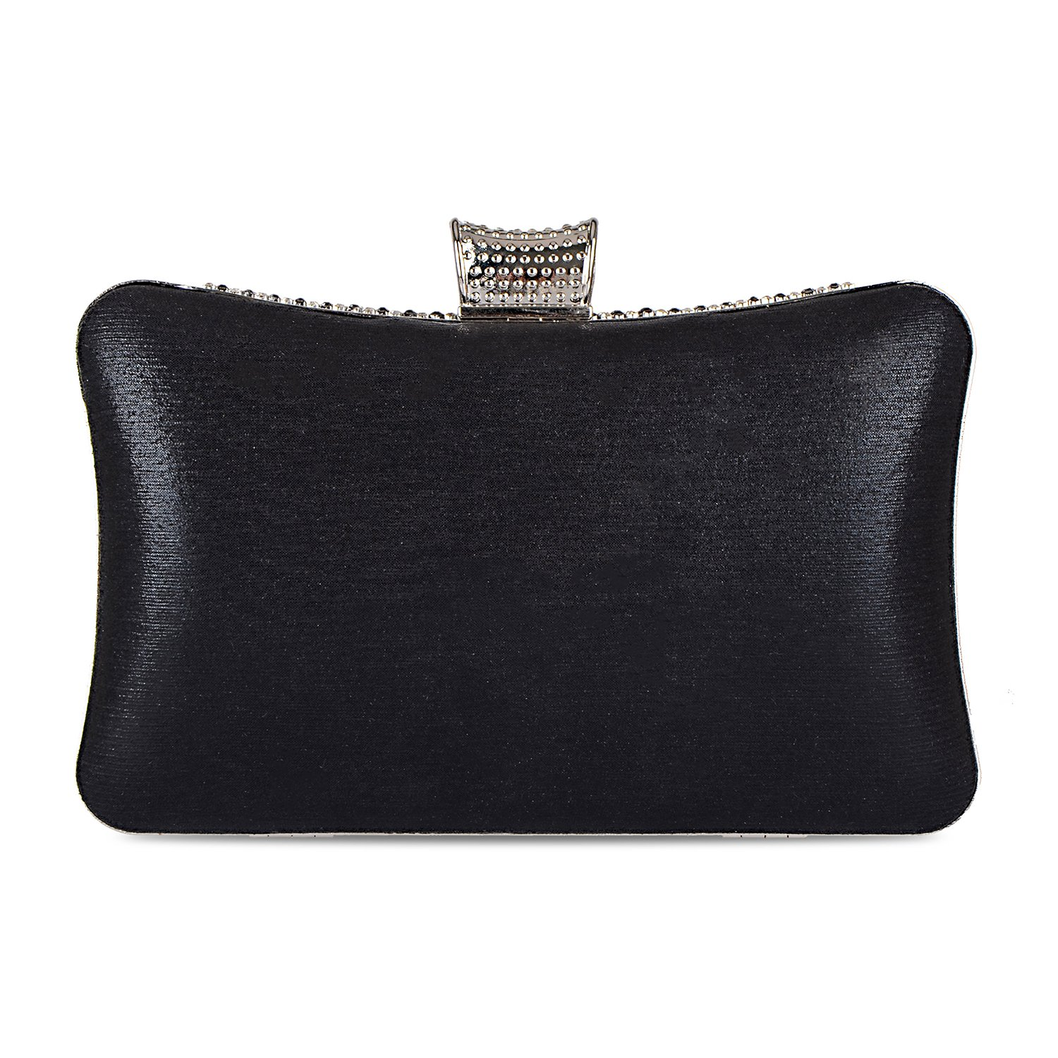 f06615962b4f 2018 Spring Women s Handmade Handbag Silk Fabric Rhinestone Beaded Envelope  Clutch Wedding Purse (Black)  Handbags  Amazon.com