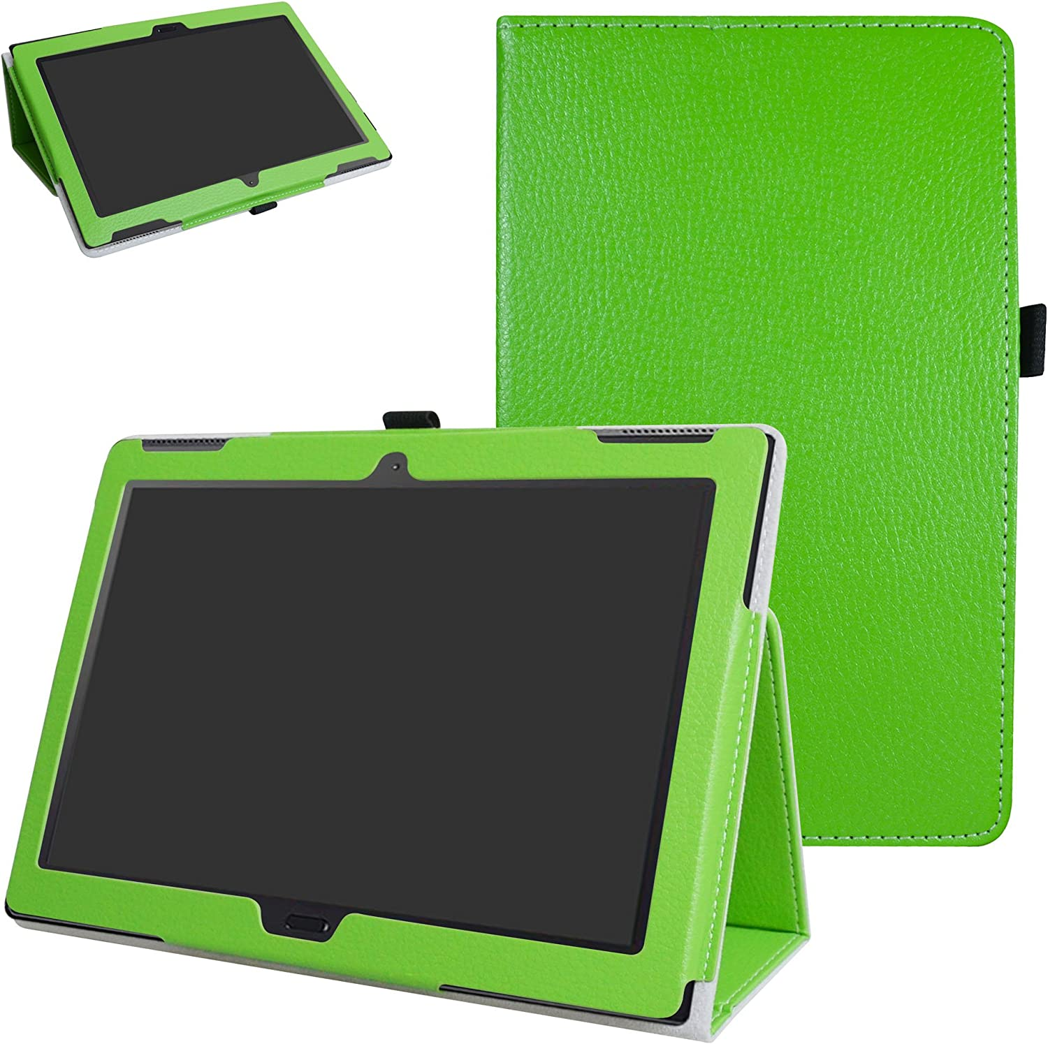 "MAMA MOUTH Lenovo Moto tab X704A Case, PU Leather Folio 2-Folding Stand Cover with Stylus Holder for 10.1"" Lenovo Moto tab X704A / Lenovo Tab 4 10 Plus Tablet,Green"