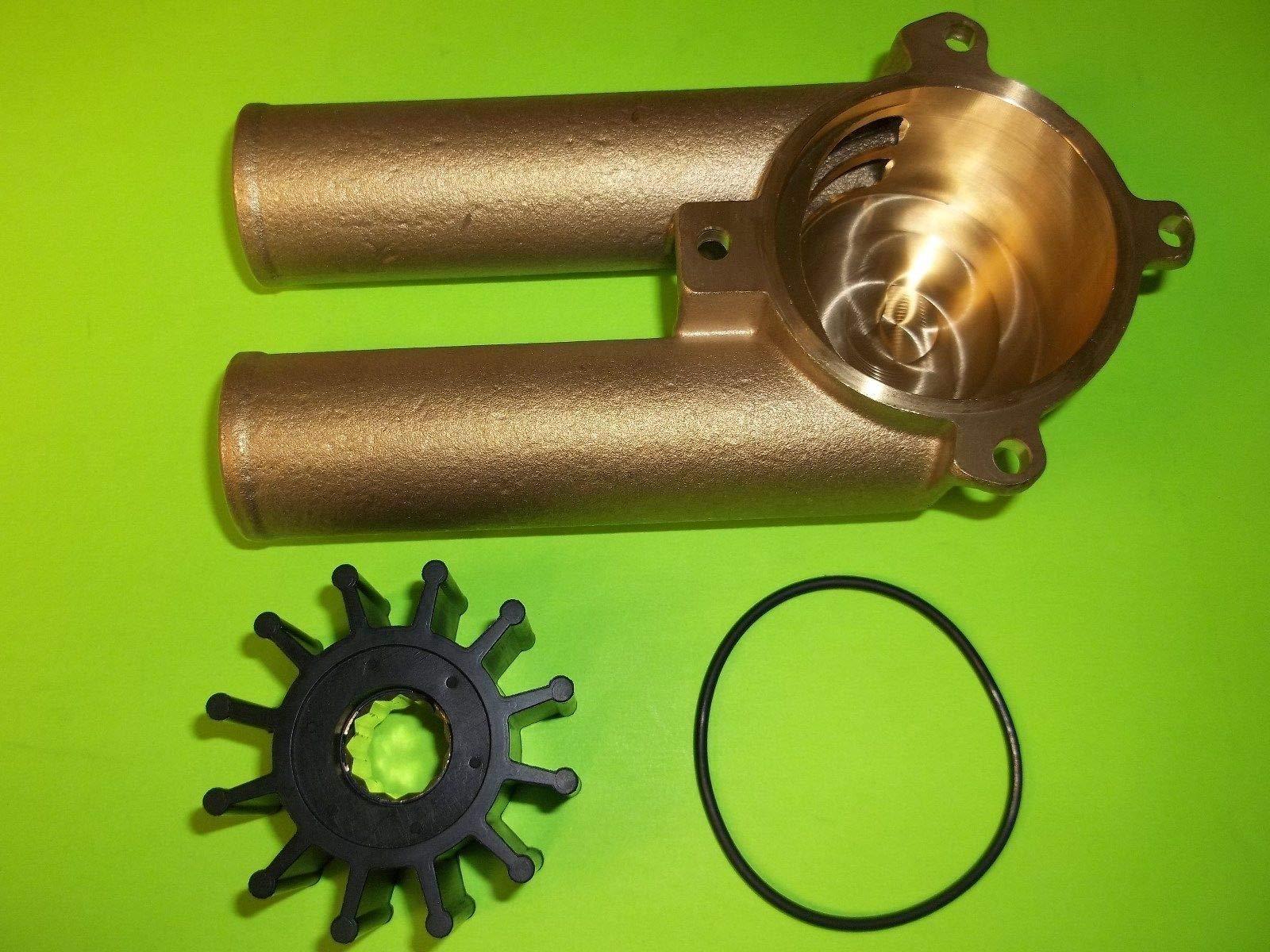 All Metal Raw Water Sea Pump Impeller Housing 3858115 Volvo Penta 4.3 5.0 5.7 by RPS