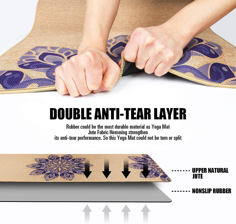 Amazon.com: AIMERDAY - Esterilla de yoga de yute gruesa ...