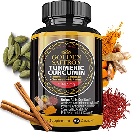 Amazon Com Golden Saffron Turmeric Curcumin With Bioperine