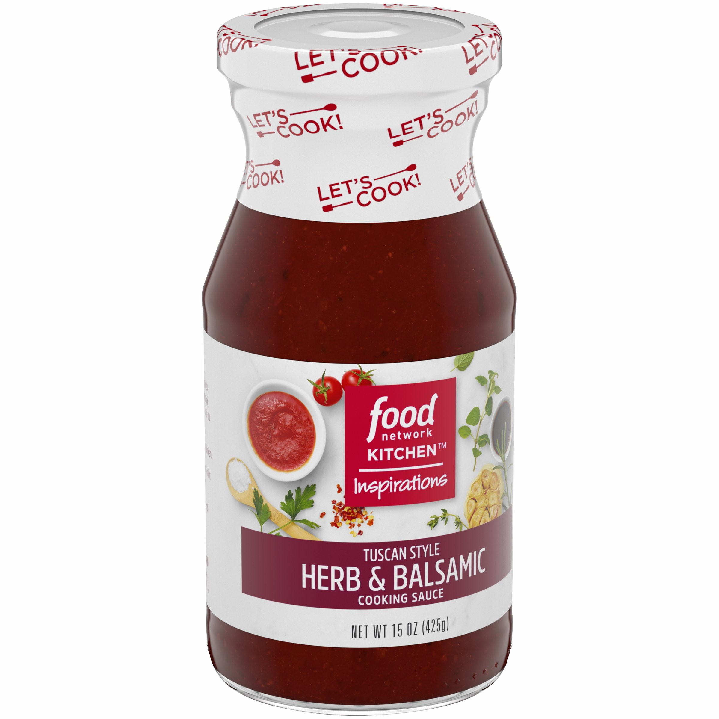 Food Network Kitchen Inspirations Tuscan Style Herb & Balsamic Cooking Sauce, 15 oz