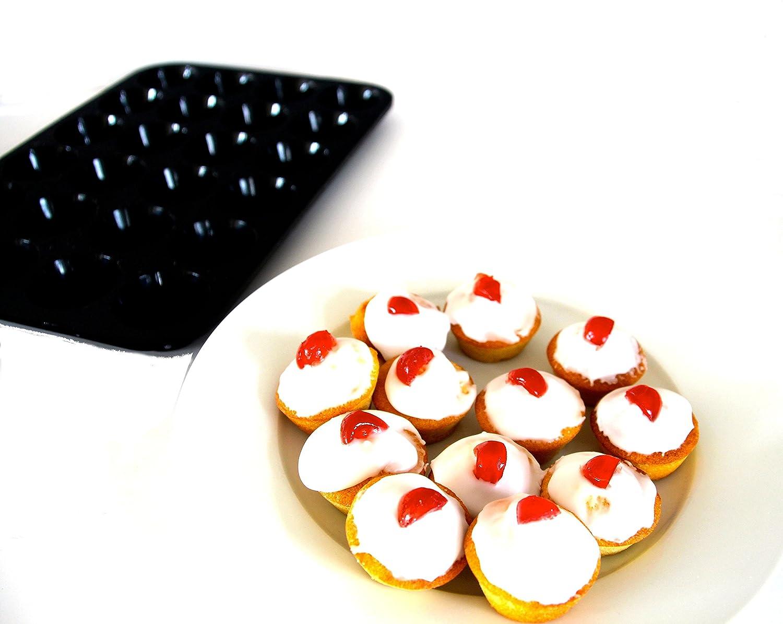 SiliconeCuisine – Molde de silicona para 24 Cupcakes/tartaletas/canapés: Amazon.es: Hogar