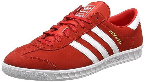 best sneakers 8a70b bb134 Adidas Hamburg, Zapatillas para Hombre, Rojo (Red Footwear White Gold  Metallic), 43 1 3 EU  Amazon.es  Zapatos y complementos