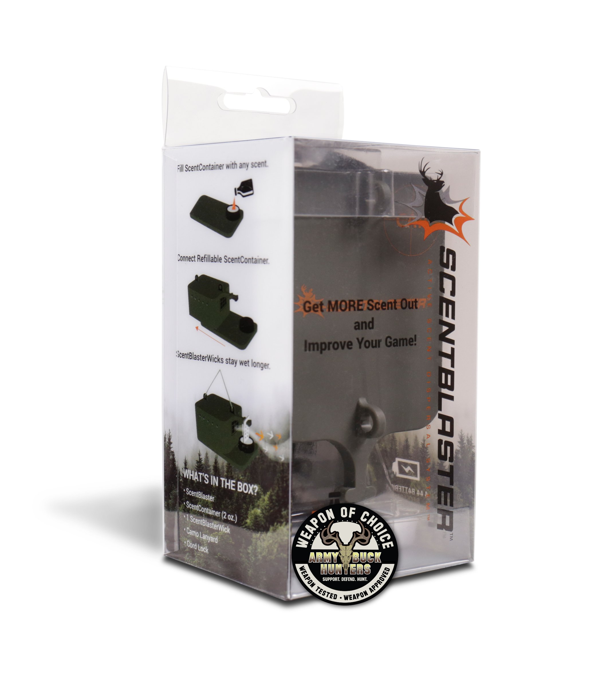 ScentBlaster Pro Kit, ScentBlasterWick 6-Pack & Extra ScentContainer. The World's best wicking system, works with any hunting scent, attracts more game to the kill zone! by ScentBlaster (Image #2)