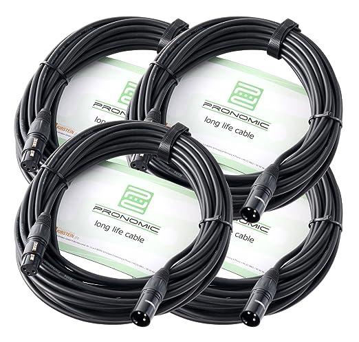 11 opinioni per Fase Pronomic XFXM-10 XLR Microfono cavo 10 m Nero, Kit da 4 cavi