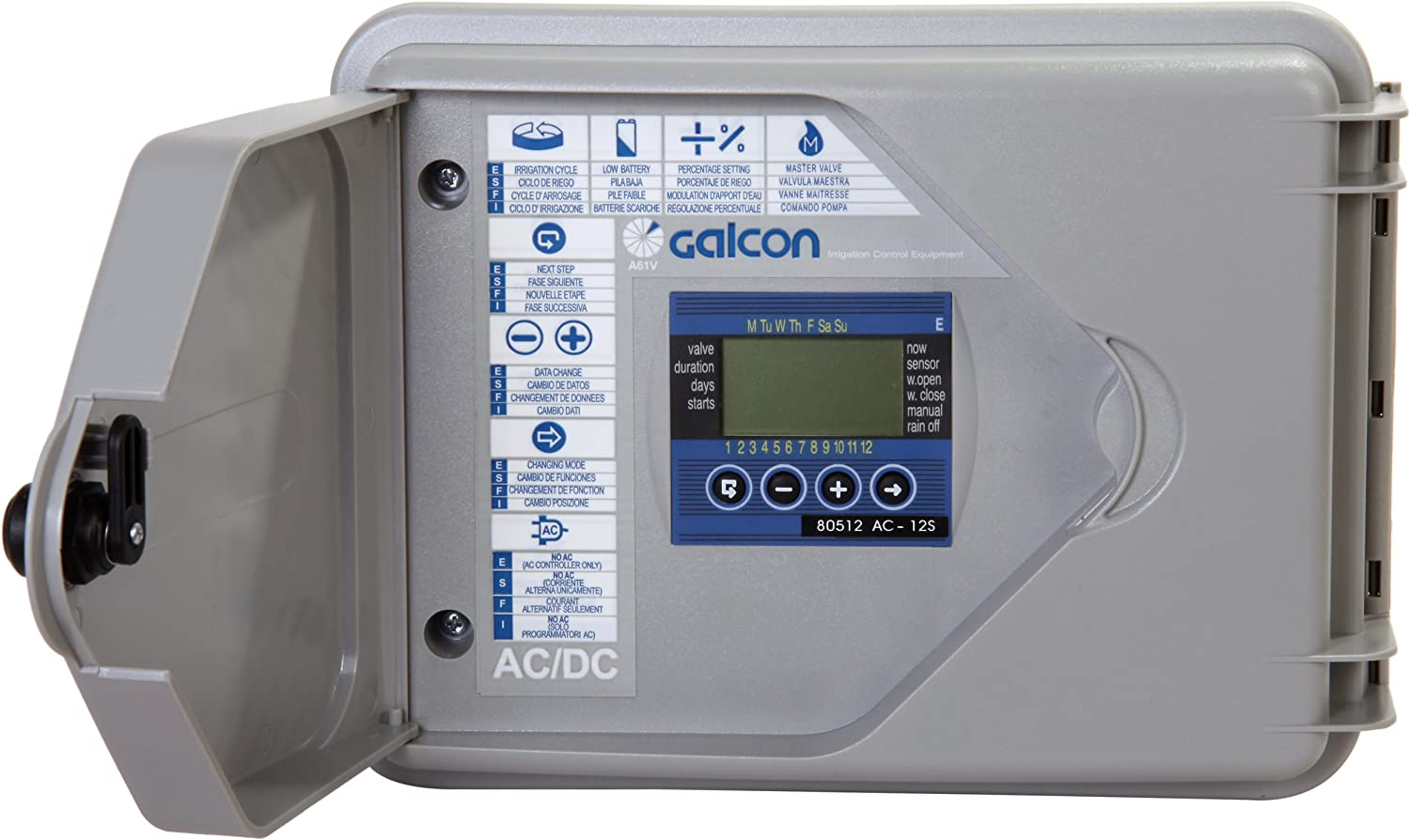 Galcon 80512S AC-12S 12-Station Indoor Or Outdoor Irrigatin Controller