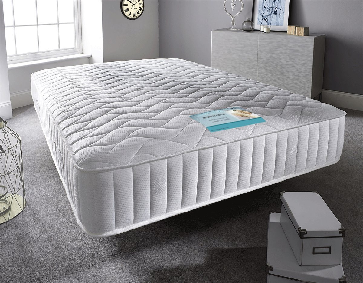 Sleep Factory - Kingsize Mattress Sprung Memory Foam Mattress. Sprung Mattress With A Layer Of Memory Foam. Luxury Memory Foam Mattress With Luxury Knitted Stretch Micro Quilted Fabric. Fast Free Delivery. (5FT Kingsize) Sleep Factory Limited