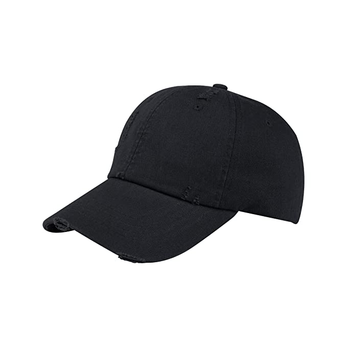 387a8ca6794 Amazon.com  MG Unisex Low Profile (Uns) Washed Twill Distressed Cap ...