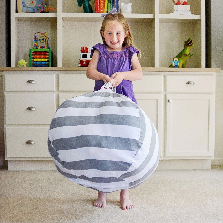 Storage Bean Bag Chair- Finest Storage, Hammock & Organizer for kids' Plush, Jumbo & Cuddly Toys