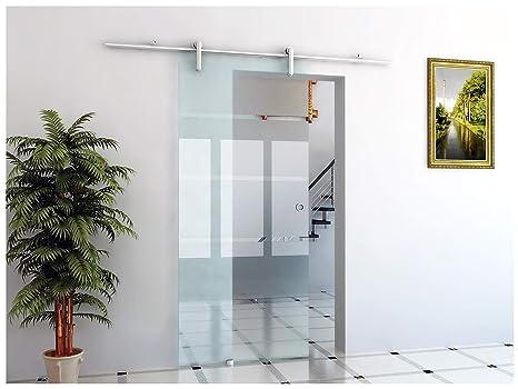 Amazon Diyhd 6ft Glass Sliding Barn Door Interior Partition