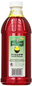 Chef-O-Van Food Coloring, Yellow, 16 Ounce