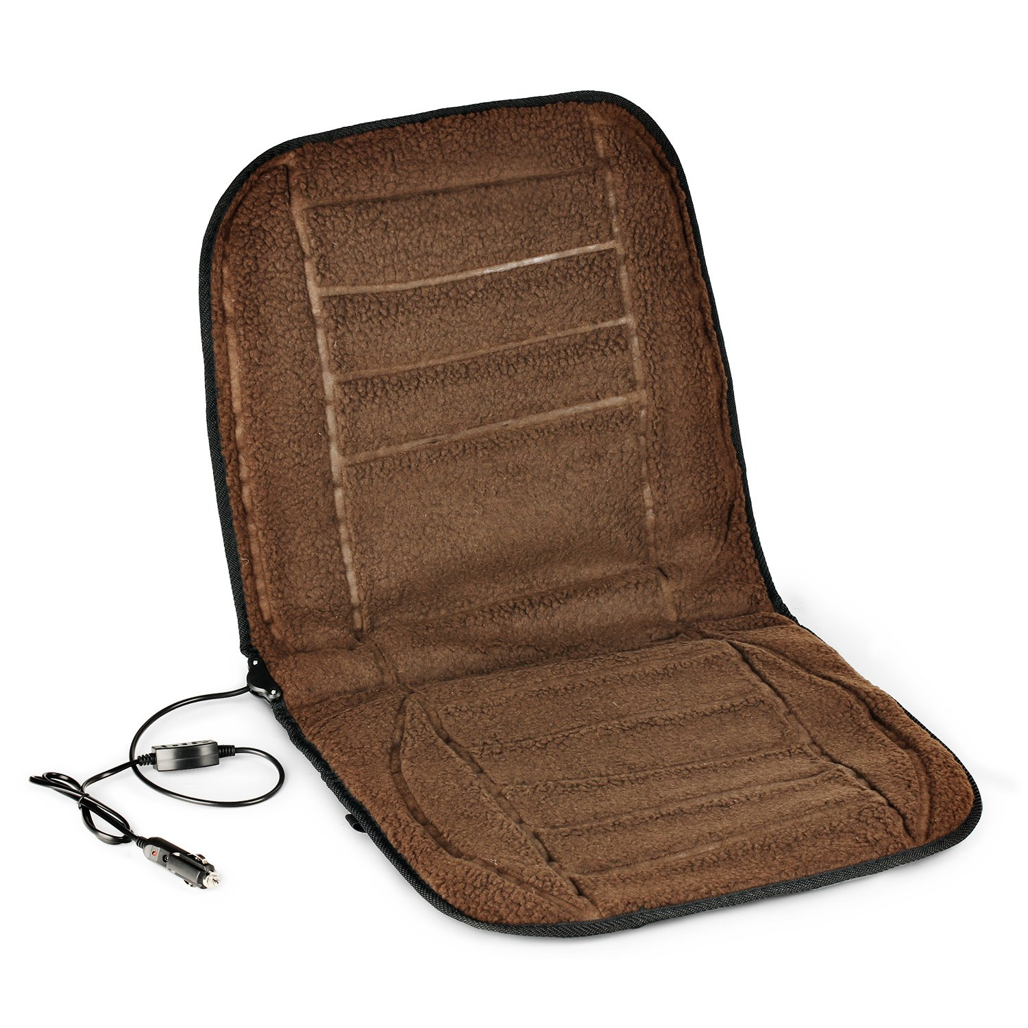 AFTERPARTZ 12V H-W45 Heated Front Seat Cushion Coffee