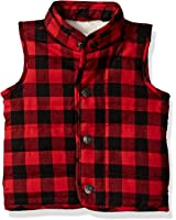 Mud Pie Baby Toddler Boys' Sherpa Lined Quilted Vest