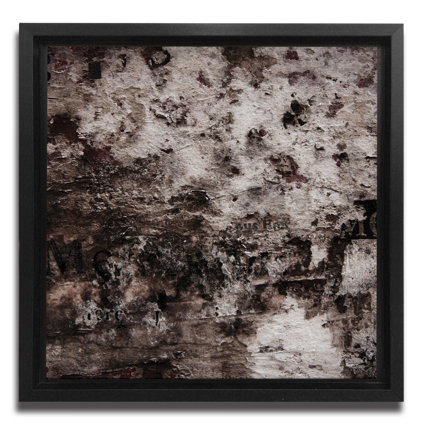 JP London Ready to Hang Made in North America Framed 1.5in Thick Gallery Wrap Canvas Art Grunge Steampunk Grit Wall Abstract 18in SQSFCNV2383