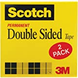 Scotch Double Sided Long-Lasting Tape, No Mess, 1/2 x 1296 Inches, 3 Inch Core, 2 Rolls (665-2P12-36)