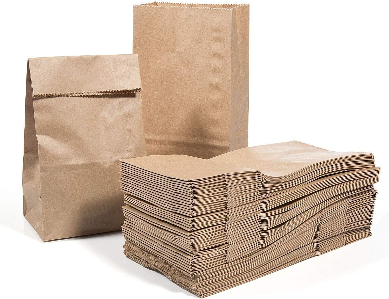 Vordas 100 Piezas Bolsas de Papel Kraft Boda 17 x 9 x 5 cm - 70 g./m2, Ideal para Bolsas de Regalo, Bolsas de Fiesta, Calendario de Adviento, Decoración de Pascua