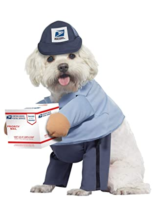 Amazon.com: Disfraz para mascotas de perro US Mail Carrier ...