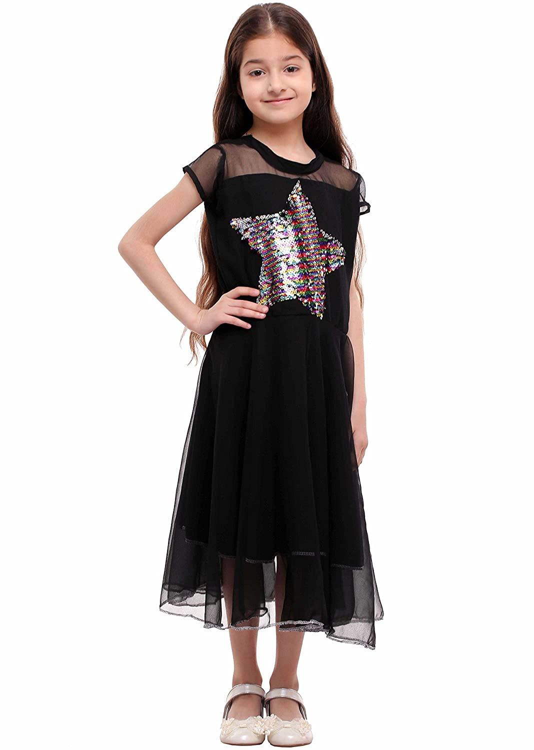 cc0a79088596 tshirt.in Kids Reversible Rainbow Sequin Star Dress (8-9 Years): Amazon.in:  Clothing & Accessories