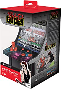 My Arcade Bad Dudes Micro Player - 6.75 Inch Mini Retro Arcade Machine Cabinet - Licensed Collectible