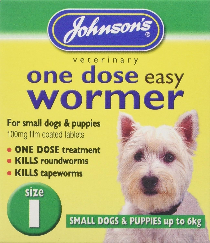 (2 Pack) Johnson's Vet - Easy Dose Wormer Size 3 Large Dog 4 Tabs Johnson's Vet