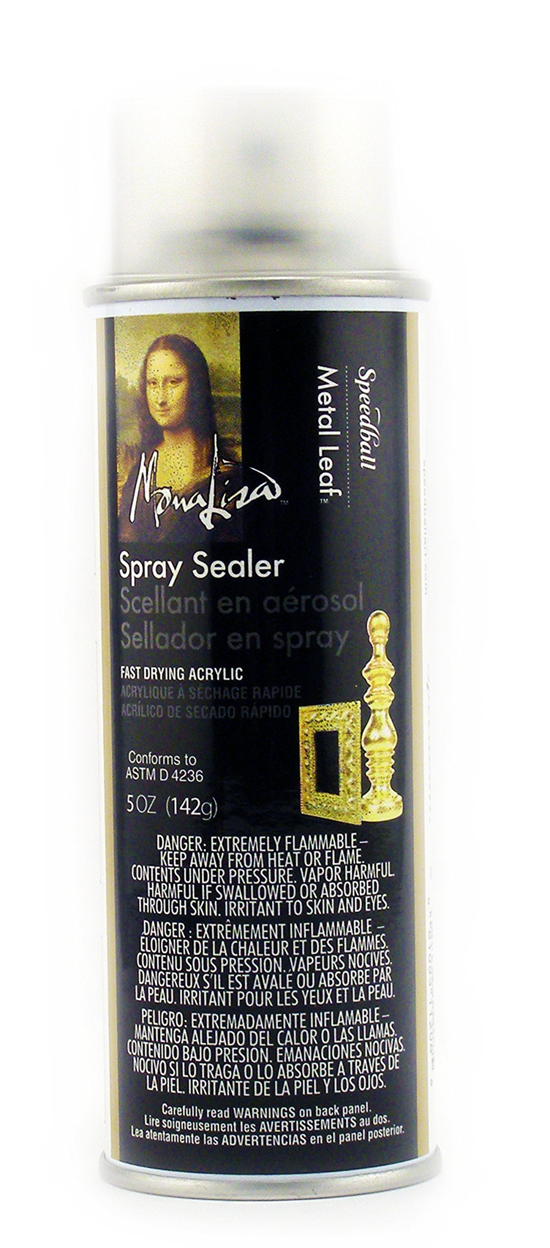 Speedball 11208  Mona Lisa 5-Ounce Spray Sealer for Metal Leaf