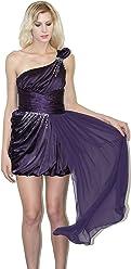 Nox Dresses Nox Anabel Narianna Greek Goddess Style one shoulder bridesmaid dress high low Prom Dress