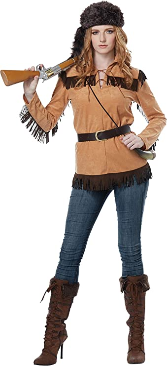 Victorian Costumes: Dresses, Saloon Girls, Southern Belle, Witch California Costumes Womens Frontier Lady - Adult Costume Adult Costume Tan Extra Small $34.88 AT vintagedancer.com