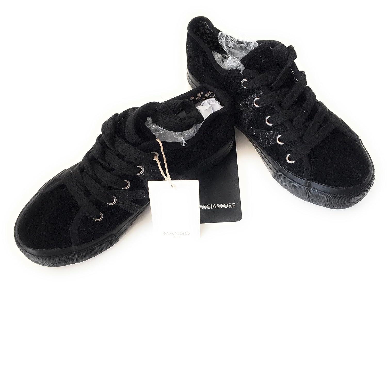 Mango - Zapatillas para Niña Negro Negro Negro Size: 37 EU: Amazon.es: Zapatos y complementos