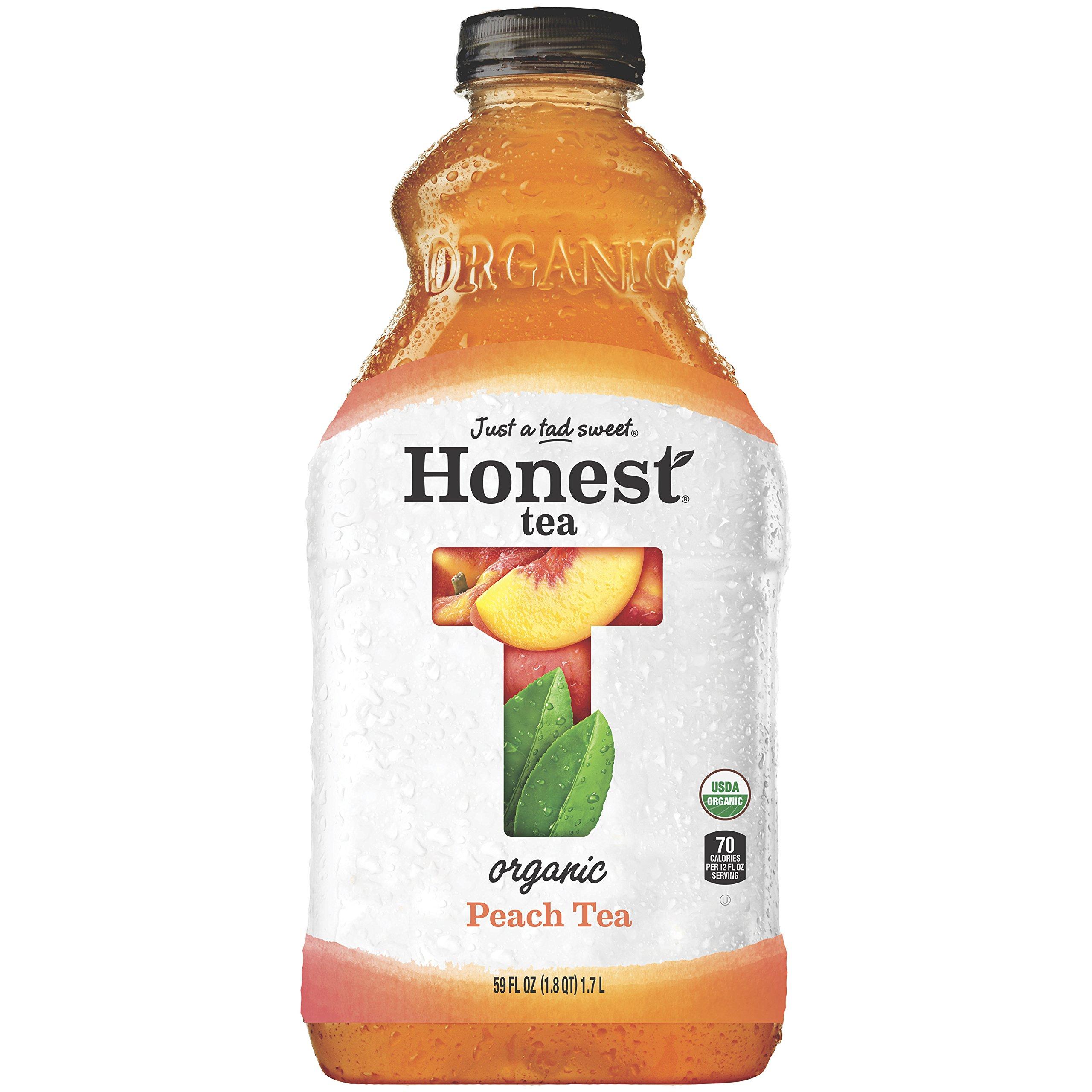Honest Tea Organic Fair Trade Peach Tea Gluten Free, 59 fl oz