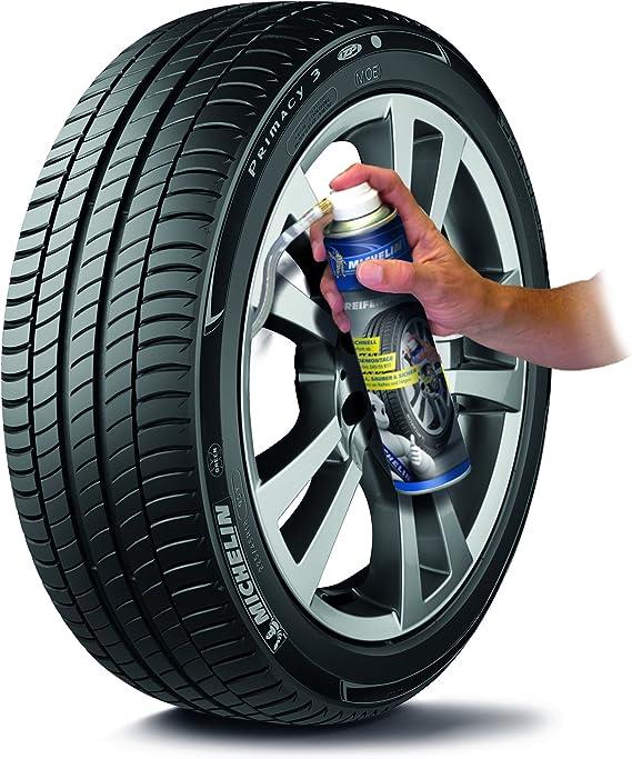 Michelin 92423 Reifendichtmittel Pannenspray Fürs Auto Blitzschnell Ohne Werkzeug Löcher Im Reifen Reparieren Pkw Kleine Suv Und Wohnwagen 500 Ml Auto