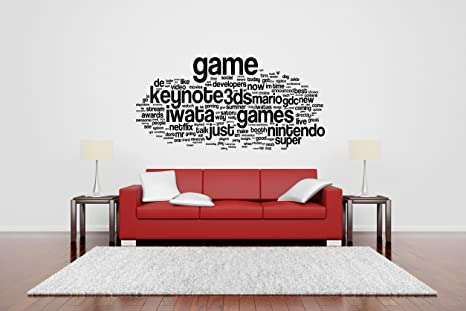 Quotes gamer life Vinyl Wall Sticker game room Decor Stikers Nursery Decoration