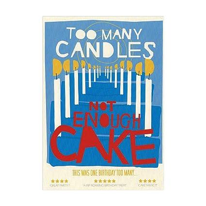 Demasiados velas tarjeta del feliz cumpleaños - blanco ...