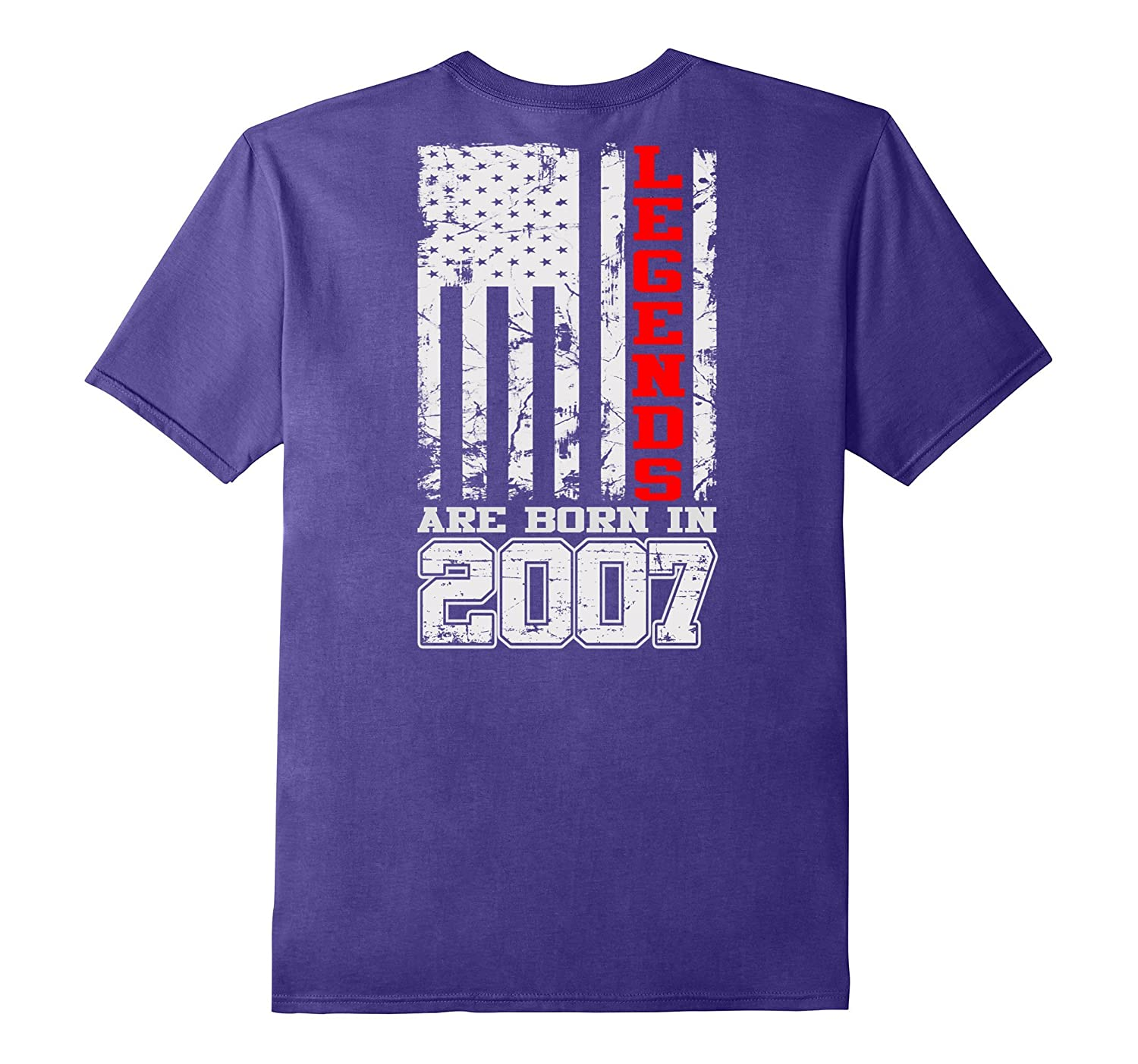 Back T-shirt Legends Born In 2007 Birthday Gift For 10 Years-Vaci