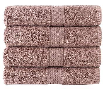 JITTY toalla de baño 100% algodón, 70 x 140 cm, Set de 4