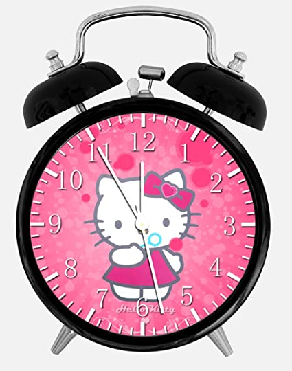 Amazon Com New Hello Kitty Alarm Desk Clock 3 75 Room Decor X20