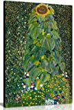 Sunflower By Gustav Klimt Canvas Wall Art Picture Print (24x16in)