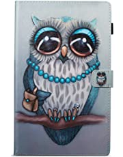 BoxTii Kindle Fire HD 10 Case, Painted style Premium Leather Case, Stand Design, Slim Fit Folding Case with Card slots and Cash holder for Kindle Fire HD 10 (Owl)