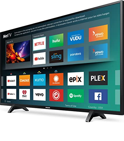 """bd1877a0c Amazon.com: Philips 43"""" Class 4K UHD LED TV with HDR 10 and Smart TV  (43PFL5603/F7): Electronics"""