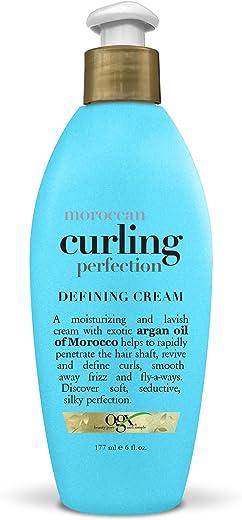 كريم تحديد الشعر للشعر بزيت الارجان المغربي رينيوينج من او جي اكس، 177 مل