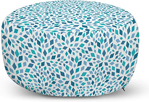 Ambesonne Teal Ottoman Pouf