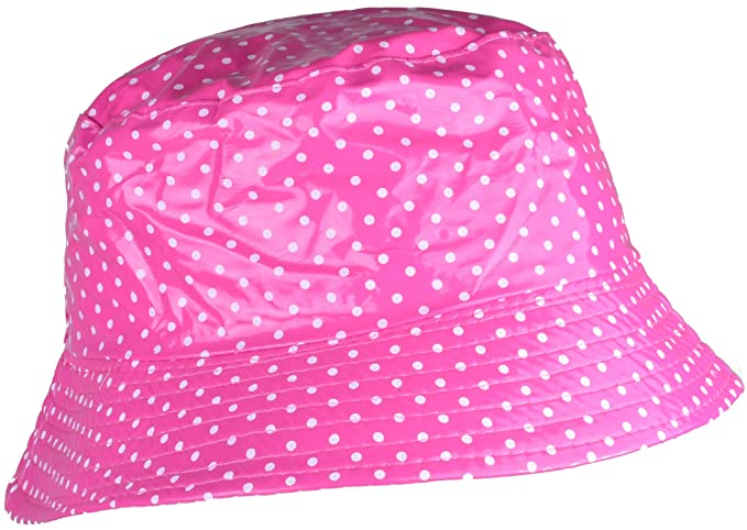 1af24ac33603c YJDS Womens Rain Hats Wide Brim Waterproof Packable Hot Pink Dots at Amazon  Women s Clothing store