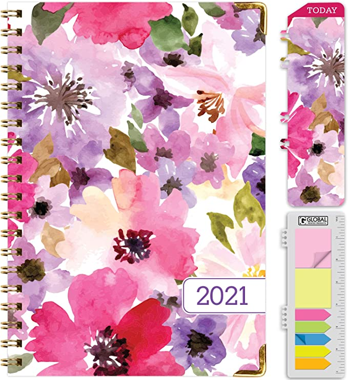 HARDCOVER  2021 Planner Daily Weekly Monthly Planner Nov 2020 - Dec 2021