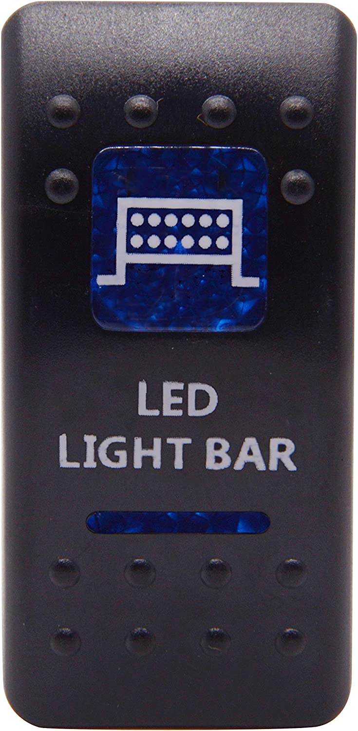 Cllena Car Toggle Switch Blue LED Lights for Car Motor Boat Music